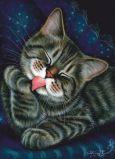 ACARDS cat lick - Irina Garmashova postcard