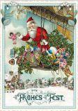 TAUSENDSCHÖN Frohes Fest / Weihnachtsmann fliegt im Zeppelin Postkarte