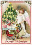 TAUSENDSCHÖNEin frohes Weihnachtsfest / angel with girfts postcard