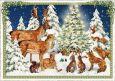 TAUSENDSCHÖN critters celebrate Christmas postcard