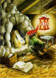 TAURUS-KUNSTKARTEN dwarf with fireplace - Inge Löök postcard