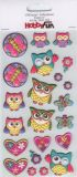 HobbyFun Eulen IV (alt) CREApop Softy Sticker