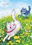 ACARDS Catch me / Katzen spielen fangen - Irina Zeniuk Postkarte
