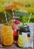 GOLDBEK Fröhlich Fruchtig Spritzig Fein - so soll Dein Geburtstag sein! Lichtblicke Postkarte