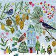 GOLLONG Vögel im Winter - Mila Marquis Postkarte