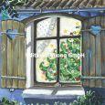 GOLLONG Weihnachtsbaum hinter Fenster - Sabrina Comizzi Postkarte