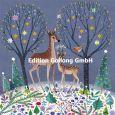 GOLLONG Zwei Rehe zwischen Bäumen im Winter - Mila Marquis Postkarte