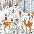 GOLLONG Tiere im Winterwald - Cartita Design Postkarte