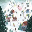 GOLLONG Ski fahren - Cartita Design Postkarte