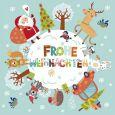 GOLLONG Frohe Weihnachten / Weihnachtsmann + Tiere um Schneekugel - Shutterstock Postkarte