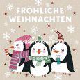 GOLLONG Fröhliche Weihnachten / drei Pinguine - Shutterstock Postkarte