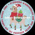 GOLLONG Fröhliche Weihnachten / Lama - Tabula Rosa Postkarte rund