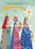 GOLLONG Frohe Weihnachten / Drei Heilige Könige mit Sternschnuppe - Mila Marquis Postkarte