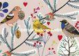 GOLLONG Drei Wintervögel - Mila Marquis Postkarte