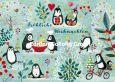 GOLLONG Fröhliche Weihnachten / Pinguine - Mila Marquis Postkarte