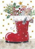 GOLLONG Weihnachtsstiefel - Kerstin Heß Postkarte