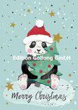 GOLLONG Merry Christmas / Panda mit Weihnachtsbaum - Katrin Lorenz Postkarte