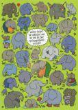 TAURUS-KUNSTKARTEN Welcher Elefant hat gekleckert...?  - Charis Bartsch Postkarte