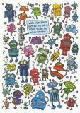 TAURUS-KUNSTKARTEN Welche beiden Roboter haben drei Arme...? - Charis Bartsch Postkarte