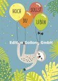 GOLLONG Hoch sollst Du leben / Faultier - Katrin Lorenz Postkarte