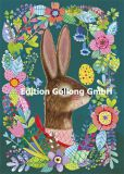 GOLLONG Hase im Blumenrahmen - Mila Marquis Postkarte