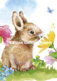 GOLLONG Hase mit Blüten - Carola Pabst Postkarte