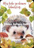 GOLLONG Alles Liebe zu Deinem Geburtstag / Igel in Blättern - Carola Pabst Postkarte