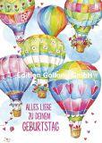 GOLLONG Alles Liebe zu Deinem Geburtstag / Heißluftballons - Carola Pabst Postkarte