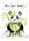 GOLLONG Nur für Dich / Panda - Katrin Lorenz Postkarte