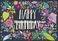 GOLLONG Happy Birthday / bunte Blätter - Mila Marquis Postkarte