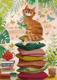 GOLLONG Alles Liebe zum Geburtstag / Katze auf Kissen - Mila Marquis Postkarte