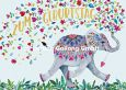GOLLONG  Zum Geburtstag / Elefant mit Herzen und Blüten - Mila Marquis Postkarte