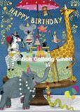 GOLLONG Happy Birthday / Tiere - Mila Marquis Postkarte