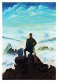 MT Wanderer über Nebelmeer - Otto Waalkes / Ottifanten Postkarte