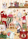 GRÄTZ Weihnachtsbäckerei - Silke Leffler Adventskalender Doppelkarte