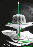 HARTUNG EDITION Küchlein mit grüner Kerze Kontraste Postkarte