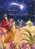 GRÄTZ Frohe Weihnachten / Drei Heilige Könige Doppelkarte