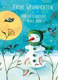 GRÄTZ Frohe Weihnachten / Schneemann Doppelkarte