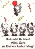 sheepworld Hoch sollst Du leben! Postkarte
