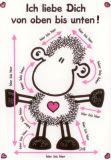 sheepworld Ich liebe Dich von oben bis unten! Postkarte