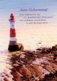 GWBI Zum Geburtstag - Leuchtturm - blickfänge Postkarte