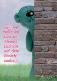 TATZINO Kleines Lächeln Postkarte