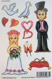 VIELSEIDIG Hochzeit Glitzer Sticker