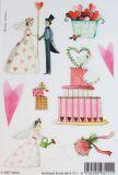 SAFURI Hochzeit Glitzer Sticker