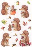 Herma Igel im Herbst Sticker