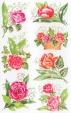 Z-Design roses + lillies of the valley stickers