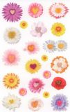 Z-Design Herzblüten Sticker