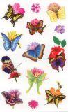 Z-Design Schmetterlinge + Blumen Sticker