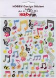 HobbyFun Noten Hobby-Design Sticker