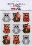 HobbyFun Eulen IV Hobby-Design Sticker
